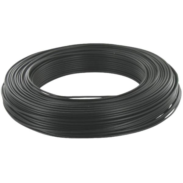 cable unifilaire h07vk 1 5mm2 noir le m vendu par 100m. Black Bedroom Furniture Sets. Home Design Ideas