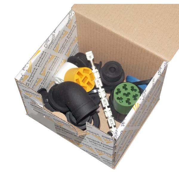 connecteur aspock universel 7 poles ass2 femelle droit gauche noir. Black Bedroom Furniture Sets. Home Design Ideas
