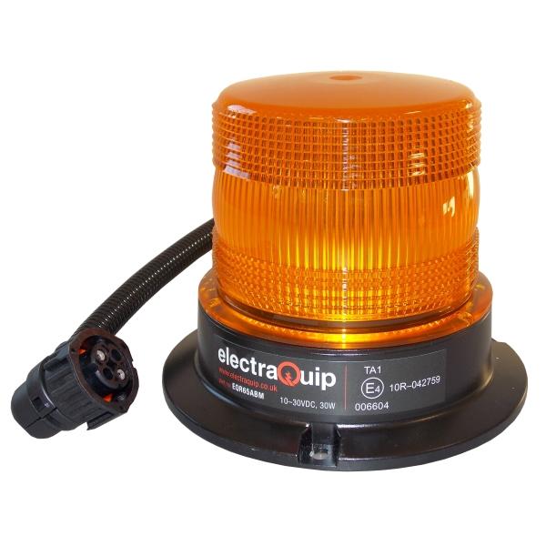 gyrophare a led orange e4928 connecteur circulaire 4p amp renault r65. Black Bedroom Furniture Sets. Home Design Ideas