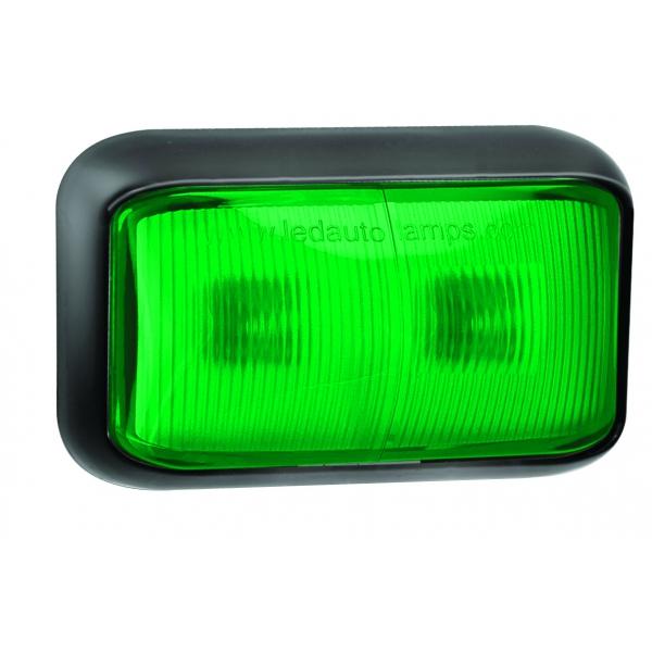 feu abs vert 12 24v 2 leds 58x35mm a plaquer noir 58gme. Black Bedroom Furniture Sets. Home Design Ideas
